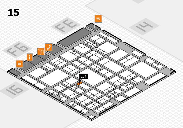 glasstec 2016 Hallenplan (Halle 15): Stand E31