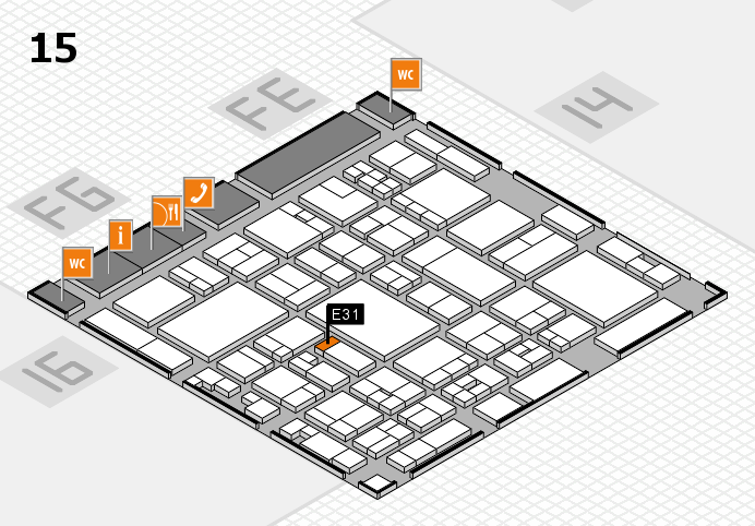 glasstec 2016 hall map (Hall 15): stand E31