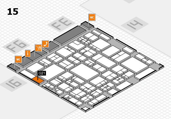 glasstec 2016 hall map (Hall 15): stand G21