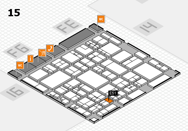 glasstec 2016 hall map (Hall 15): stand E51