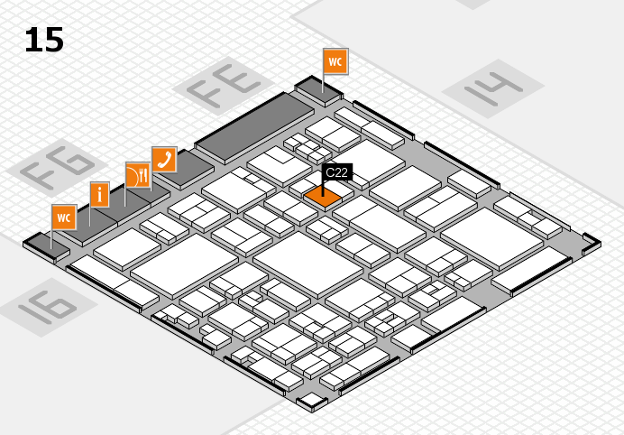 glasstec 2016 hall map (Hall 15): stand C22