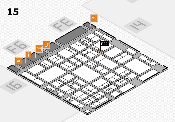 glasstec 2016 hall map (Hall 15): stand B22