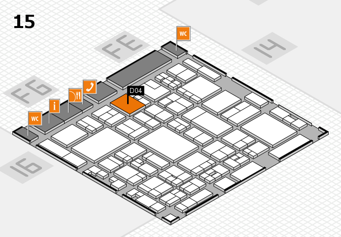 glasstec 2016 hall map (Hall 15): stand D04