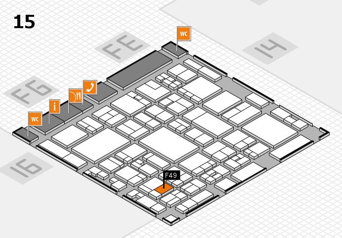 glasstec 2016 hall map (Hall 15): stand F49