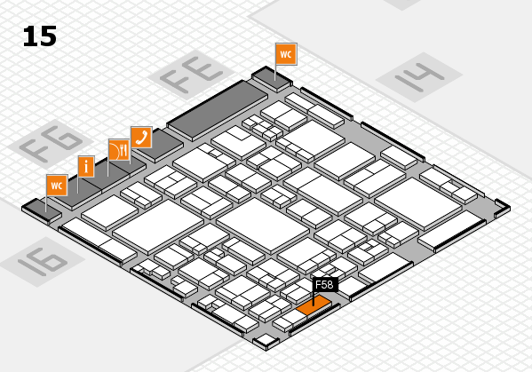 glasstec 2016 hall map (Hall 15): stand F58