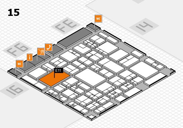 glasstec 2016 hall map (Hall 15): stand E11