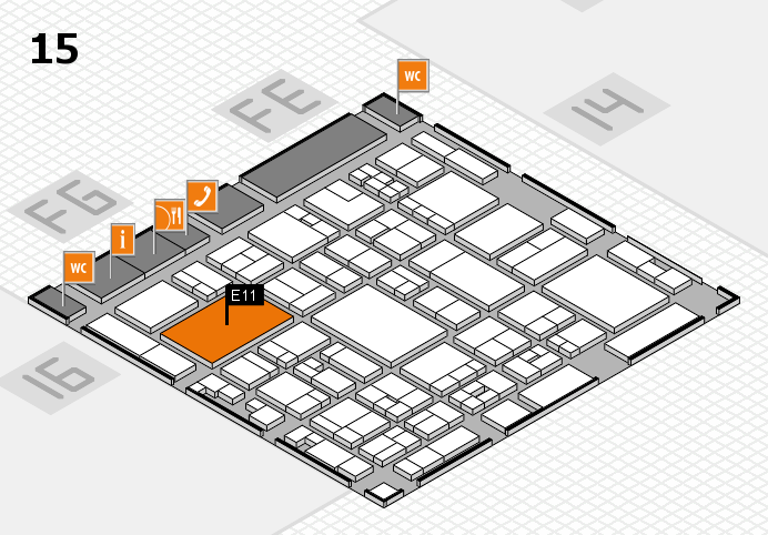 glasstec 2016 hall map (Hall 15): stand E11
