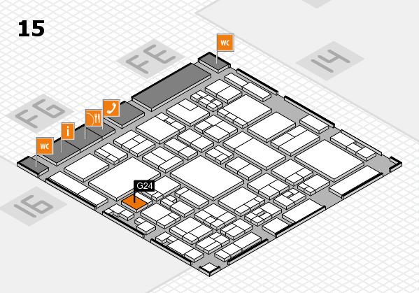 glasstec 2016 Hallenplan (Halle 15): Stand G24