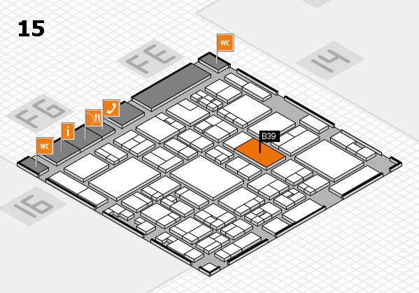 glasstec 2016 Hallenplan (Halle 15): Stand B39