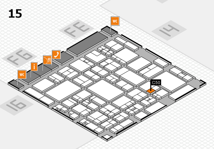 glasstec 2016 hall map (Hall 15): stand C50