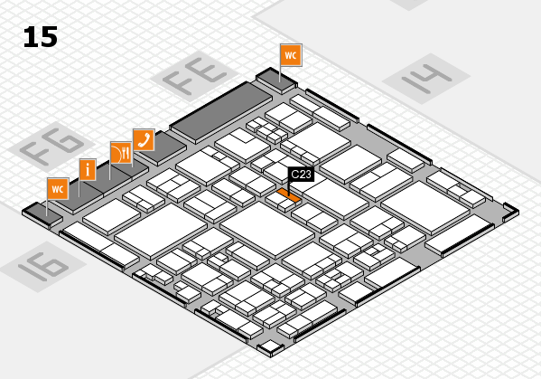 glasstec 2016 hall map (Hall 15): stand C23