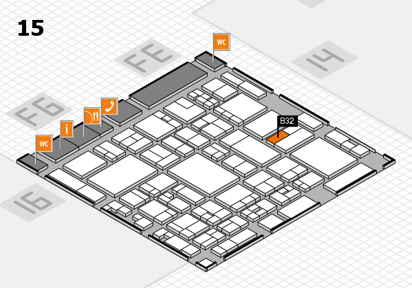 glasstec 2016 hall map (Hall 15): stand B32