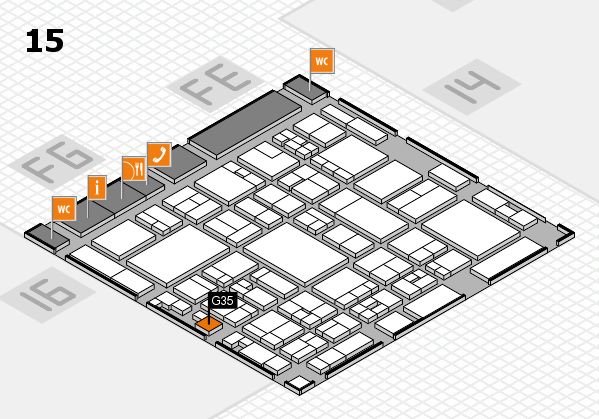 glasstec 2016 hall map (Hall 15): stand G35