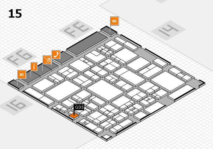 glasstec 2016 Hallenplan (Halle 15): Stand G35