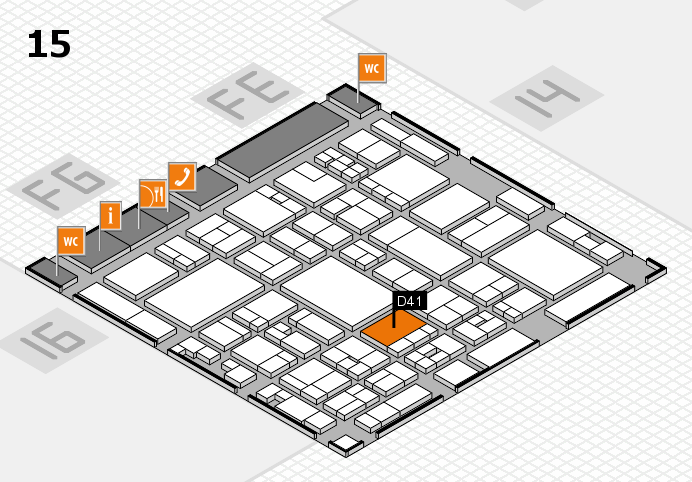 glasstec 2016 hall map (Hall 15): stand D41