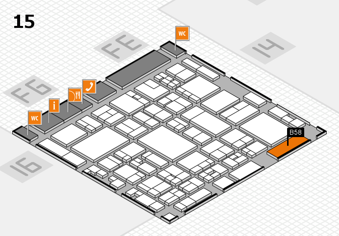 glasstec 2016 Hallenplan (Halle 15): Stand B58