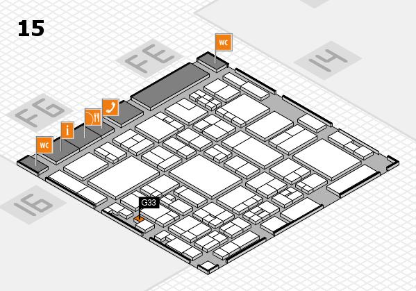 glasstec 2016 Hallenplan (Halle 15): Stand G33