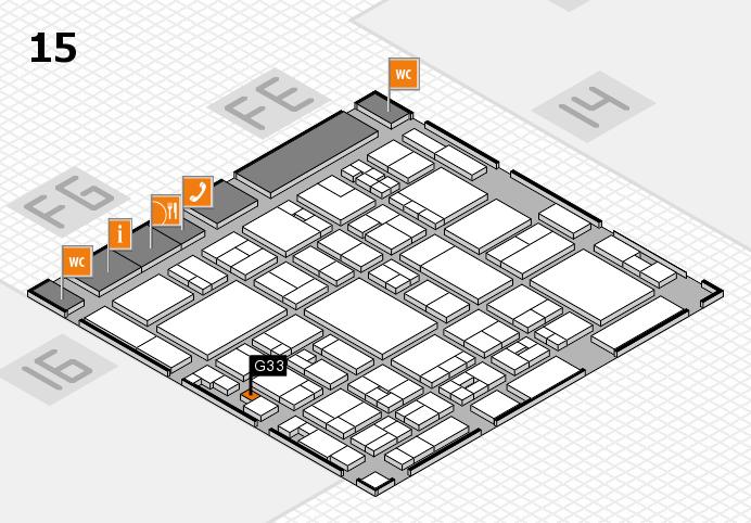 glasstec 2016 hall map (Hall 15): stand G33