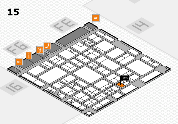 glasstec 2016 hall map (Hall 15): stand D52