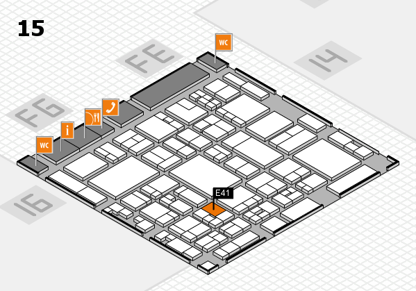 glasstec 2016 hall map (Hall 15): stand E41