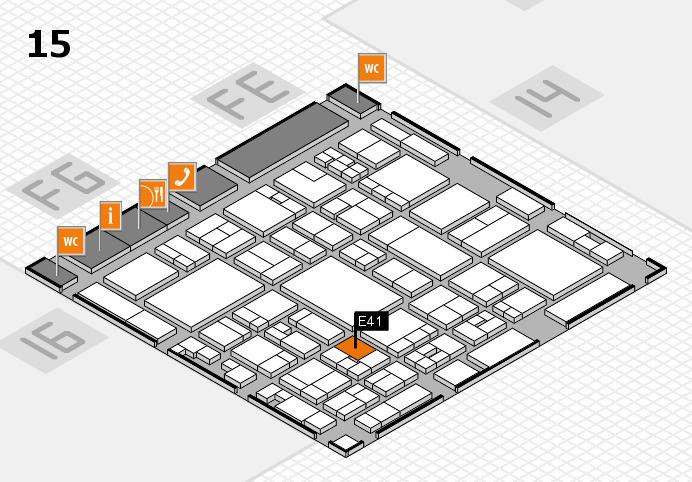 glasstec 2016 hall map (Hall 15): stand E41