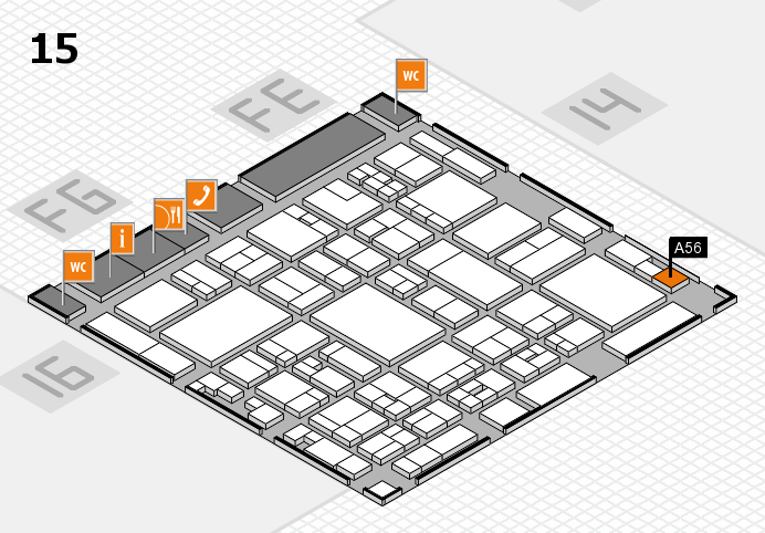 glasstec 2016 hall map (Hall 15): stand A56