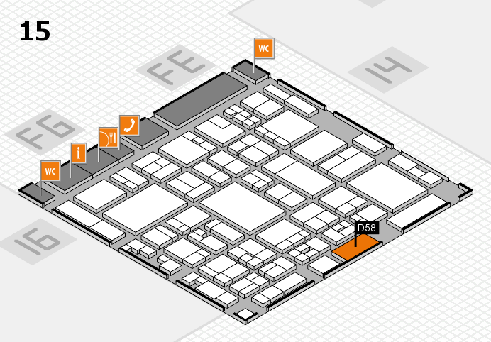 glasstec 2016 hall map (Hall 15): stand D58