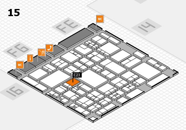glasstec 2016 hall map (Hall 15): stand E23