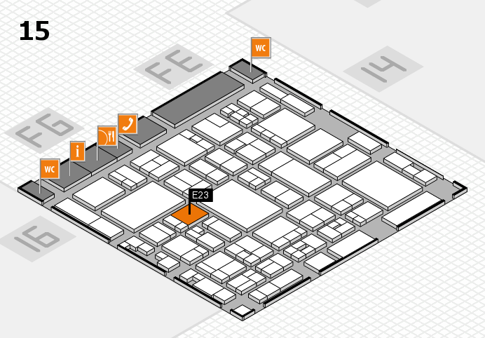 glasstec 2016 hall map (Hall 15): stand E23
