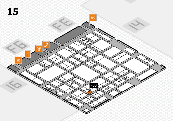 glasstec 2016 hall map (Hall 15): stand F50