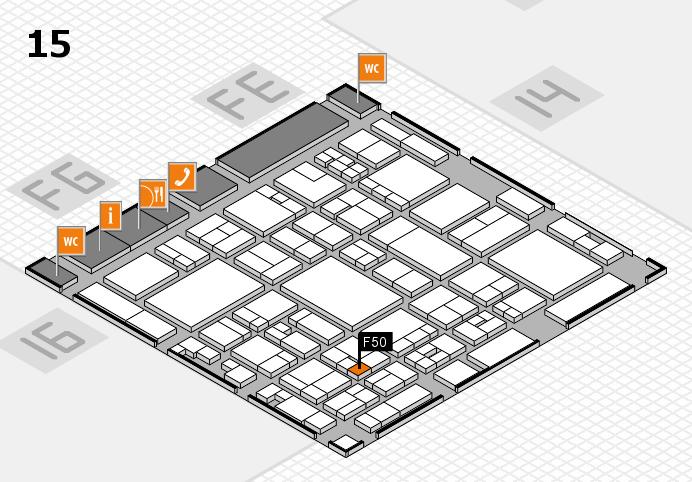 glasstec 2016 Hallenplan (Halle 15): Stand F50
