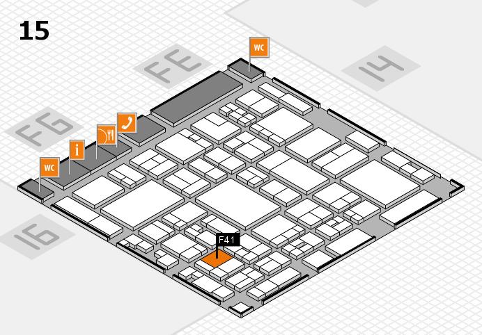 glasstec 2016 Hallenplan (Halle 15): Stand F41