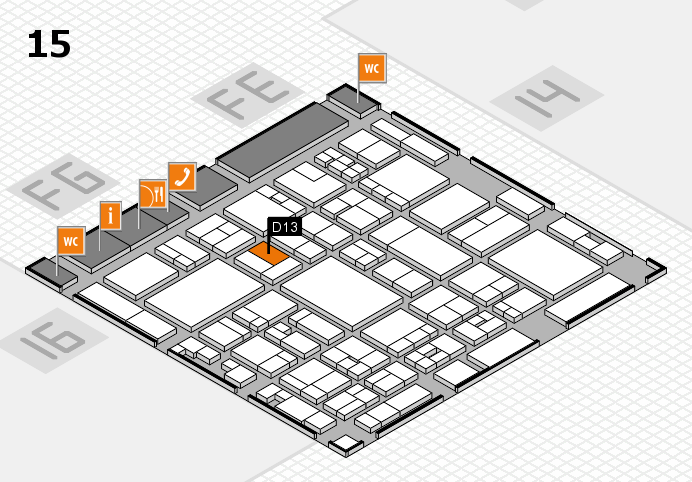 glasstec 2016 hall map (Hall 15): stand D13