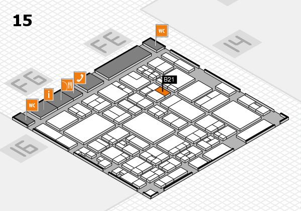 glasstec 2016 hall map (Hall 15): stand B21