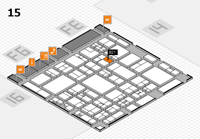 glasstec 2016 hall map (Hall 15): stand B21