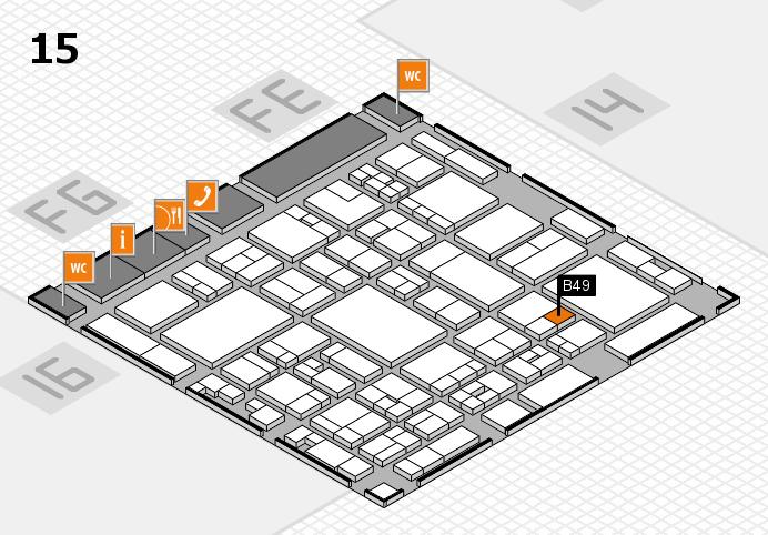 glasstec 2016 hall map (Hall 15): stand B49