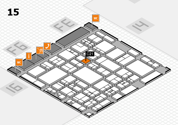 glasstec 2016 hall map (Hall 15): stand C21