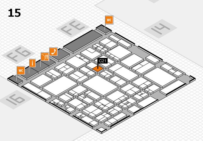 glasstec 2016 hall map (Hall 15): stand C21