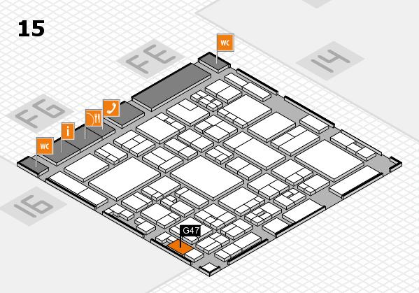 glasstec 2016 hall map (Hall 15): stand G47