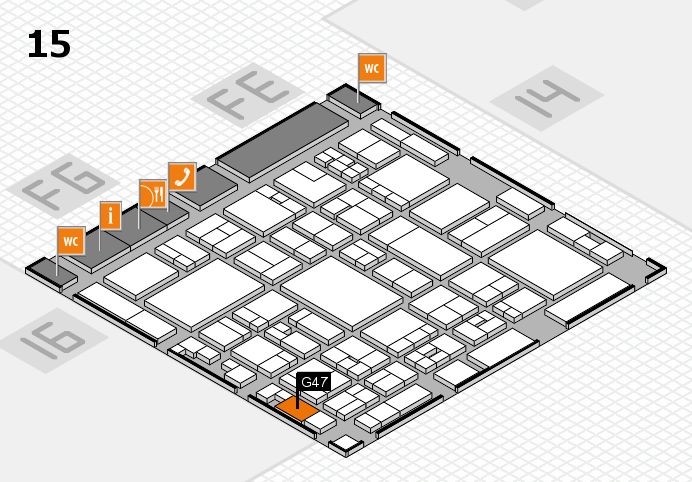 glasstec 2016 hall map (Hall 15): stand G47