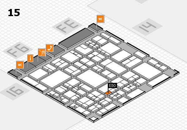 glasstec 2016 hall map (Hall 15): stand E50