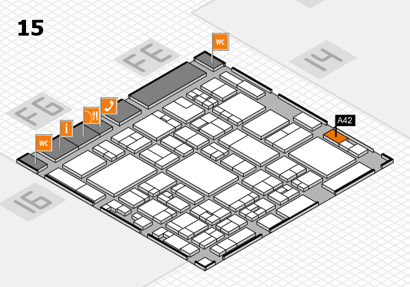 glasstec 2016 hall map (Hall 15): stand A42
