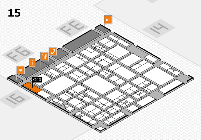 glasstec 2016 hall map (Hall 15): stand G03