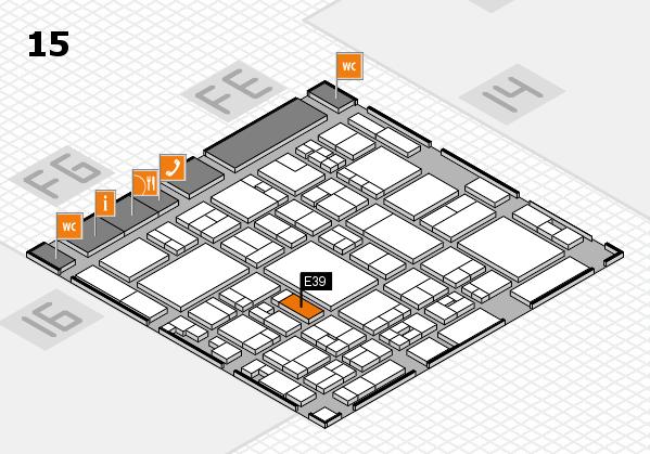 glasstec 2016 hall map (Hall 15): stand E39