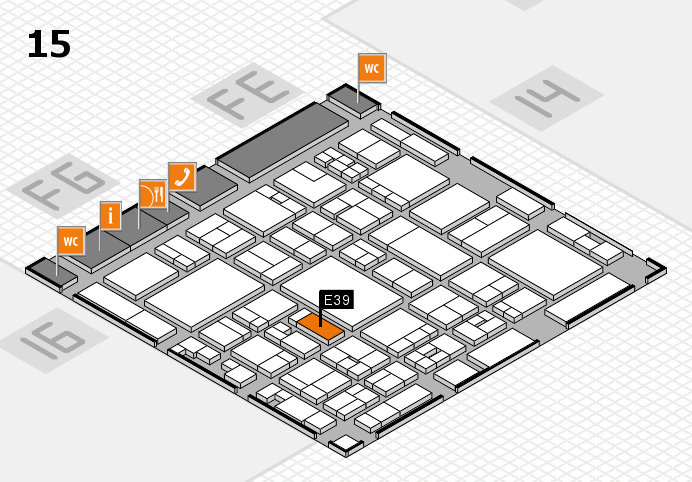 glasstec 2016 hall map (Hall 15): stand E39
