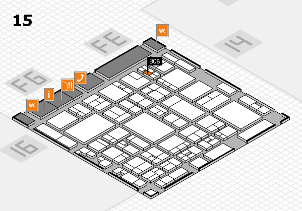 glasstec 2016 hall map (Hall 15): stand B08