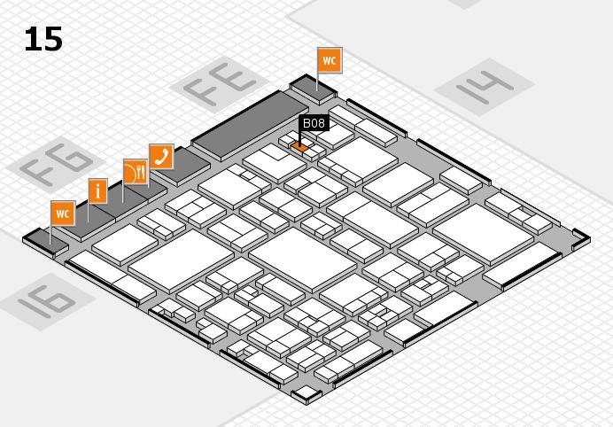 glasstec 2016 hall map (Hall 15): stand B08