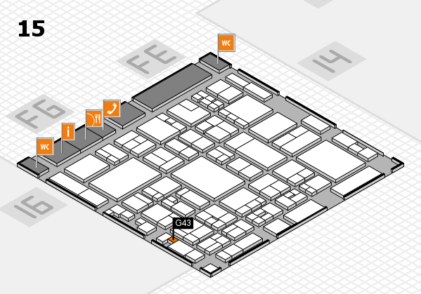glasstec 2016 hall map (Hall 15): stand G43