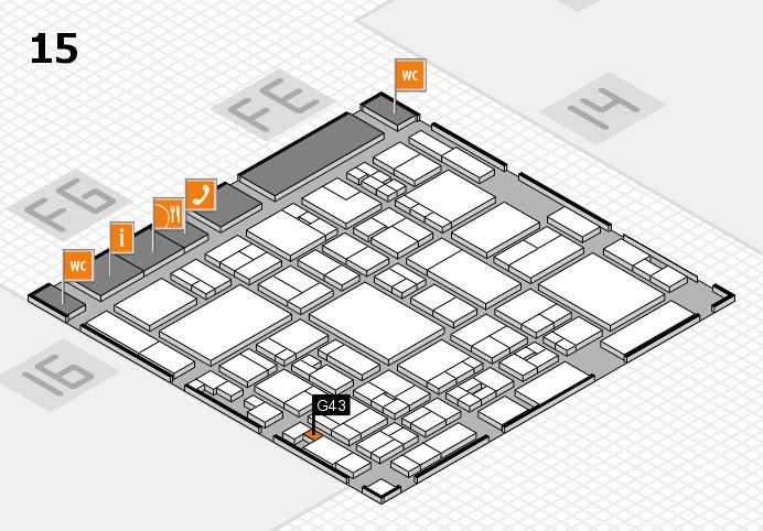 glasstec 2016 hall map (Hall 15): stand G43
