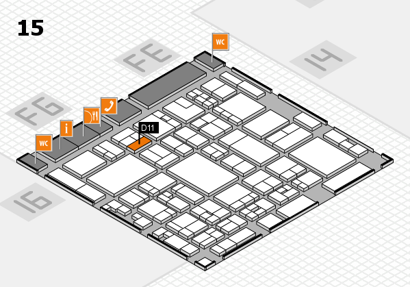 glasstec 2016 hall map (Hall 15): stand D11